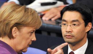 Merkel und Rösler (Foto)