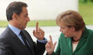Merkel und Sarkozy beraten über Euro-Schuldenkrise (Foto)