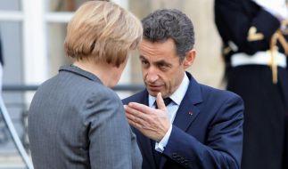 Merkel und Sarkozy streiten über EU-Krisenpolitik. (Foto)