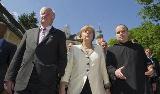 Merkel und Seehofer bei CSU-Klausurtagung (Foto)