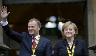 Merkel und Tusk: Schuldenkrise ist Chance für Europa (Foto)