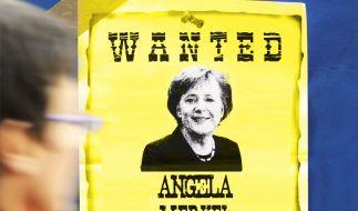 Merkel wanted (Foto)