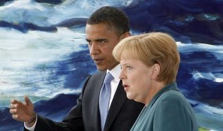 Merkel warnt Obama vor Abschottung (Foto)