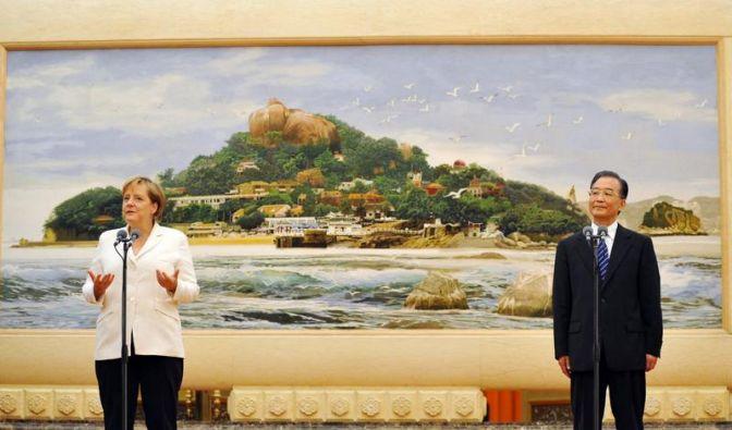 Merkel will in China Menschenrechtslage ansprechen (Foto)