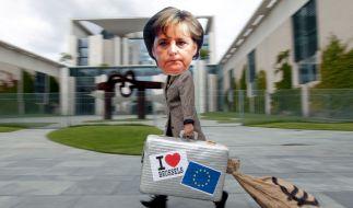 Merkels Europolitik und der Rettungsschirm sind der «Wahlalternative 2013» ein Dorn im Auge. (Foto)