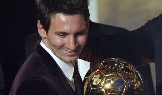 Messi, Messi, Messi: Zum dritten Mal Weltfußballer (Foto)