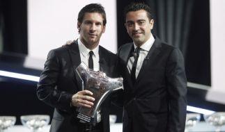 Messi und Xavi (Foto)