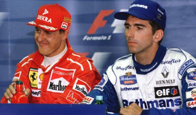 Michael Schumacher (l.) und Damon Hill lieferten sich legendäre Duelle. (Foto)