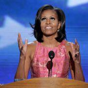 Michelle Obama bei ihrer Rede auf dem Re-Nominierungsparteitag für ihren Gatten und Präsidenten Barack Obama.