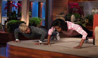 Michelle Obama und Ellen DeGeneres (Foto)