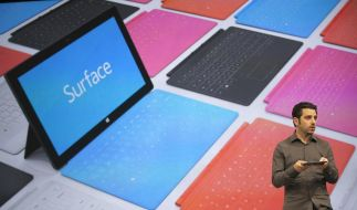 Microsoft präsentierte den Tablet-PC Surface in Los Angeles. (Foto)