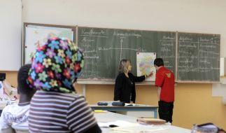 Migranten in der Schule (Foto)