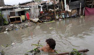 Mindestens zehn Tote bei Taifun auf den Philippinen (Foto)