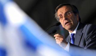 Ministerpräsident Antonis Samaras will das vereinbarte Sparprogramm erst bis 2016 umsetzen. (Foto)