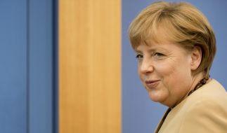 90 Minuten lang stellte sich Kanzlerin Merkel den Fragen der Hauptstadtjournalisten. (Foto)