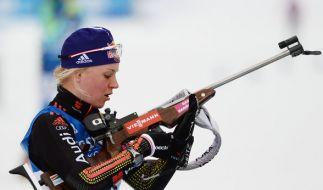 Miriam Gössner steht langsam aber sicher unter Druck. Ihre Schießleistungen hat sie noch nicht verbessern können. (Foto)