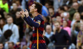Mit einer Finte überraschte Lionel Messi am Samstag seine Gegner. (Foto)