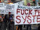 Mit drastischen Forderungen protestierten im März österreichische Studenten gegen die Bologna-Hochsc (Foto)