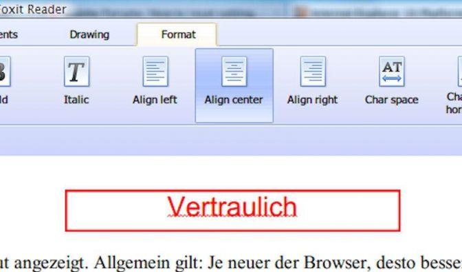 Mit Foxit Anmerkungen in PDF-Dokumente einfügen (Foto)