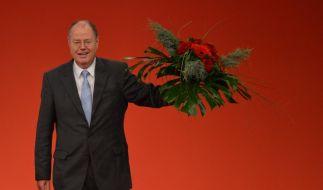 Mit 93,45 Prozent zum Kanzlerkandidaten der SPD gewählt: Peer Steinbrück. (Foto)