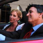Mitt Romney gibt in der Video-Parodie einen Steuerflüchtling.