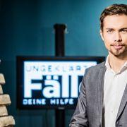 """Moderator Christoph Hoffmann präsentiert """"Ungeklärte Fälle - Deine Hilfe zählt"""". (Foto)"""