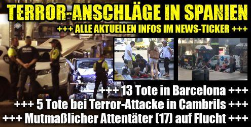 Terror-Anschläge in Spanien im News-Ticker