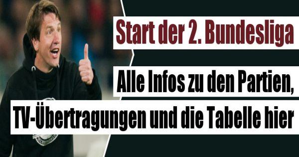 2 bundesliga 2016 17 live im tv und stream hannover for Tabelle live bundesliga