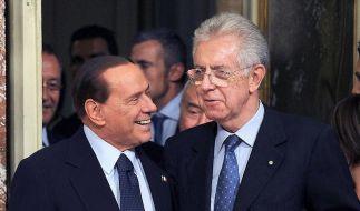 Monti stellt Senat in Rom Regierungsprogramm vor (Foto)