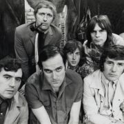 Terry Jones, Graham Chapman, John Cleese, Eric Idle, Terry Gilliam und Michael Palin (von links nach rechts)