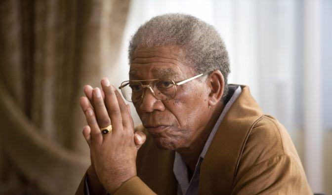 Morgan Freeman spielt Nelson Mandela. (Foto)