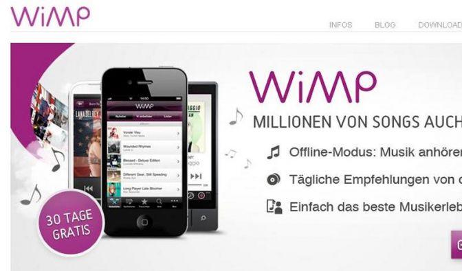 Musikstreaming-Dienst Wimp in Deutschland verfügbar (Foto)