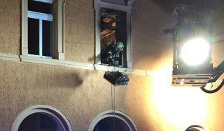 Nach Behördenangaben wurde an zwei Stellen Feuer mit Hilfe eines Brandbeschleunigers gelegt. Es brach aber nur an einer Stelle tatsächlich aus - in einem Zimmer in der ersten Etage. (Foto)