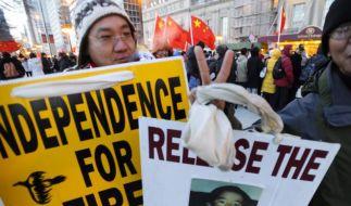 Nach Selbstverbrennung: Pro-Tibet-Proteste in den USA (Foto)