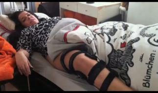 Nach einem Unfall, der Sandra ans Bett fesselte, nahm sie stark zu. (Foto)