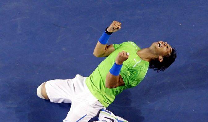 Nadal nach Sieg über Federer im Finale (Foto)