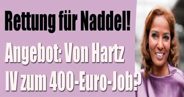 nadja abd el farrag bald mit arbeit barmherziger samariter bietet naddel 400 euro job an. Black Bedroom Furniture Sets. Home Design Ideas
