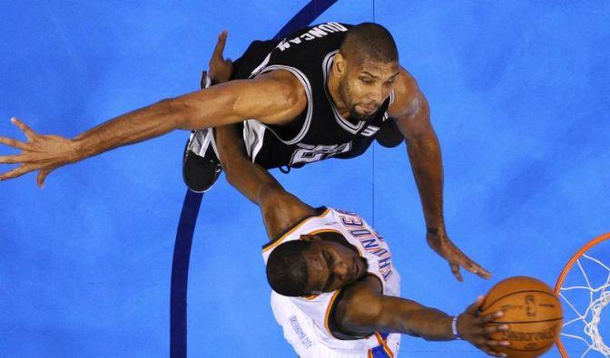 NBA: Oklahoma verkürzt gegen San Antonio auf 1:2 (Foto)