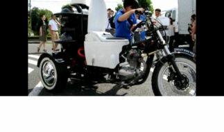 Nehmen Sie Platz: Das ist das Klo-Bike. (Foto)
