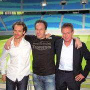 Neue Leipziger Schule: Kondi-Trainer Tim Lobinger, Chefcoach Alexander Zorniger und Sportboss Ralf Rangnick (von links).