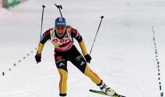 Neuners letzter Sprintsieg - Peiffer Herren-Zweiter (Foto)