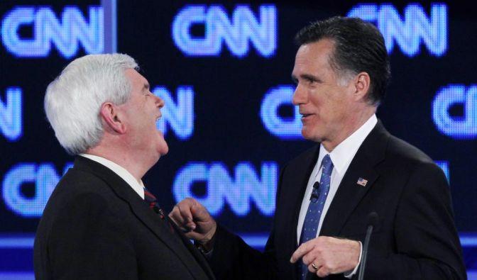 Newt Gingrich, Mitt Romney (Foto)
