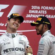 Versöhnung! Rosberg und Hamilton können wieder lachen (Foto)