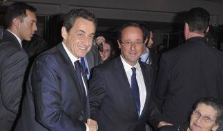 Nicolas Sarkozy und Francois Hollande (Foto)
