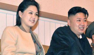 Nordkoreas Machthaber Kim Jong Un und seine Frau Ri Sol Ju sind möglicherweise Eltern geworden. (Foto)