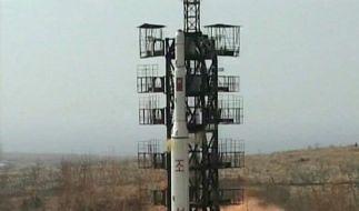 Nordkoreas Raketenstart (Foto)