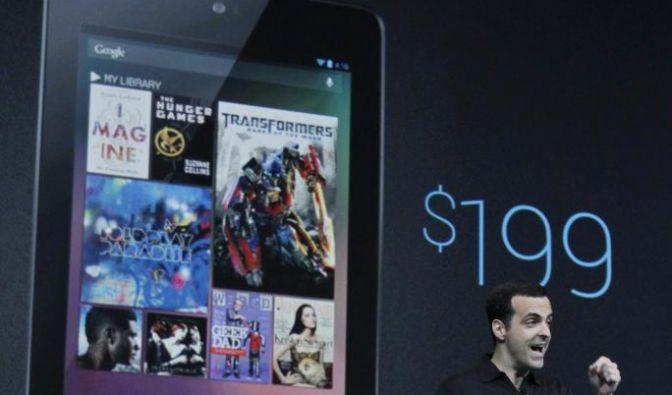 Nur 199 Dollar: Hugo Barra, Direktor für Produktmanagement bei Google, stellt das Nexus7 vor - Googles Antwort aufs iPad. (Foto)