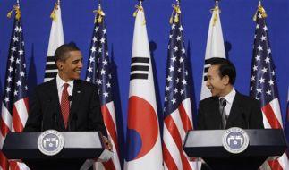 Obama in Südkorea (Foto)