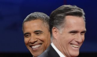 Obama und Romney stellen mit ihrem ersten Fernsehduell einen neuen Twitter-Rekord auf. Das TV-Publikum schaut nicht nur zu, sondern beteiligt sich im Internet an der Debatte. (Foto)