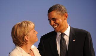 Obama und Merkel (Foto)
